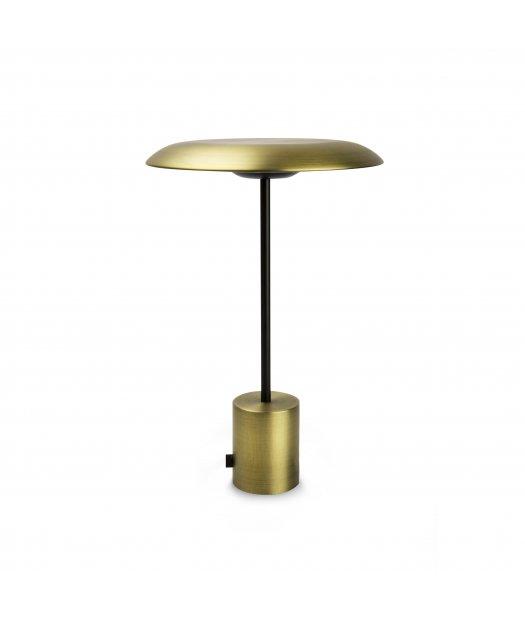 Lámpara Led oro batería Hoshi 28386 sobremesa portátil con H9I2eDEYW