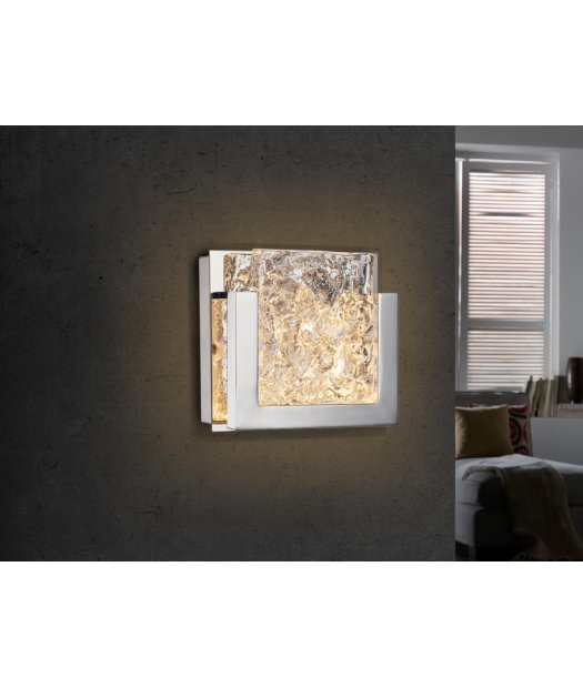 aplique de pared led 17 x 17 piros 580833 de schuller