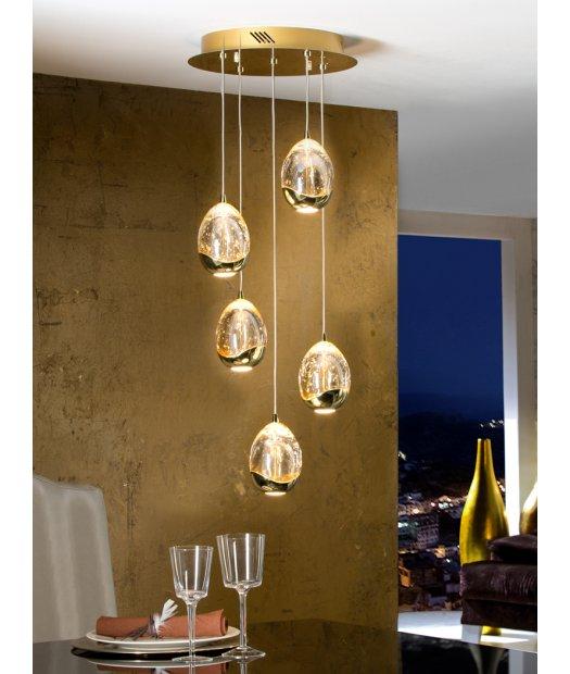 Colgante de techo 5 led oro Rocío 783529 de Schuller [783529