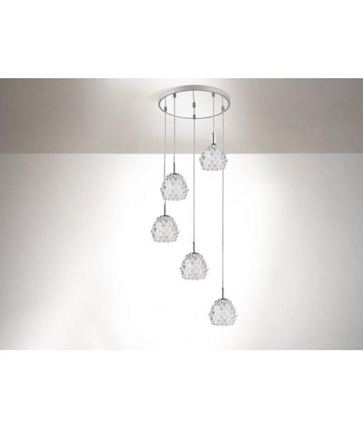 Lámpara de techo redonda 5 l. Hestia 956418 de Schuller [956518 ...