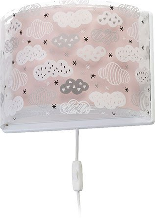 aplique de pared infantil e14 clouds rosa 41418s de dalber