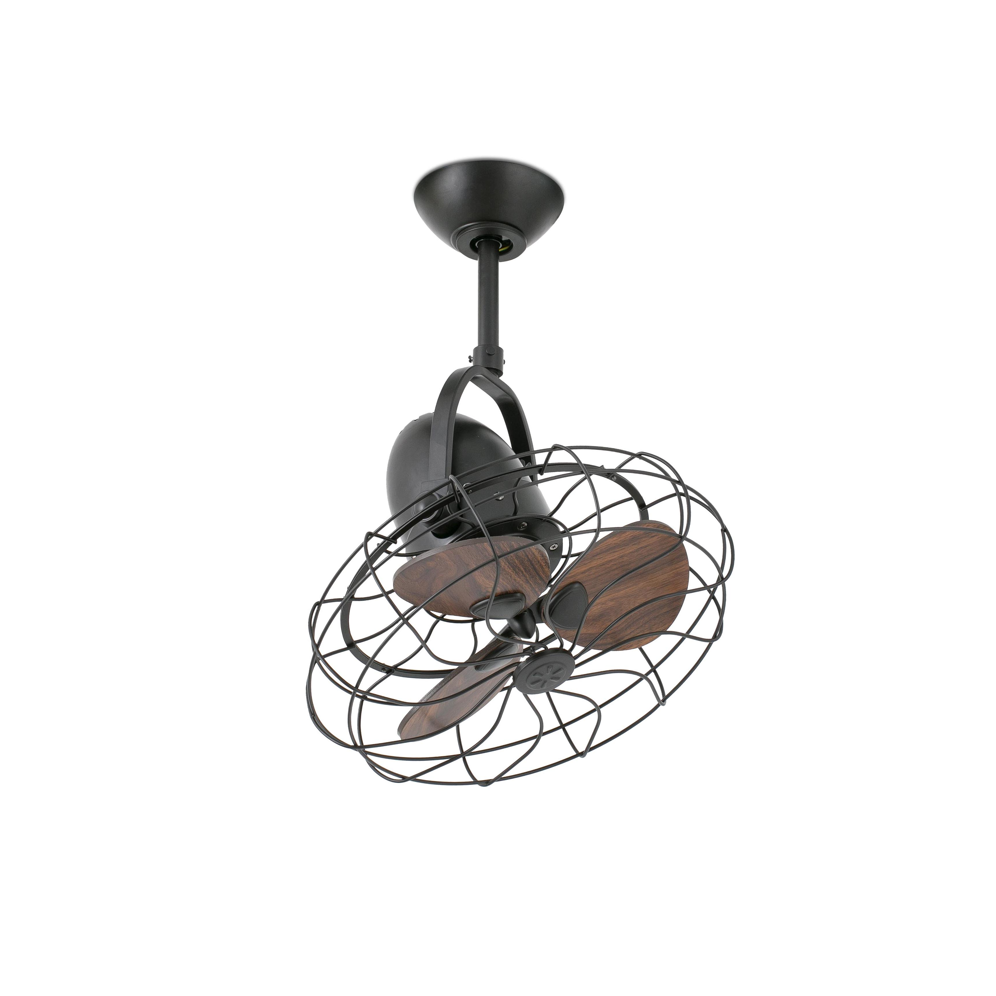 Ventilador de techo sin luz keiki 33715 marr n 450 de - Ventiladores de techo rusticos ...