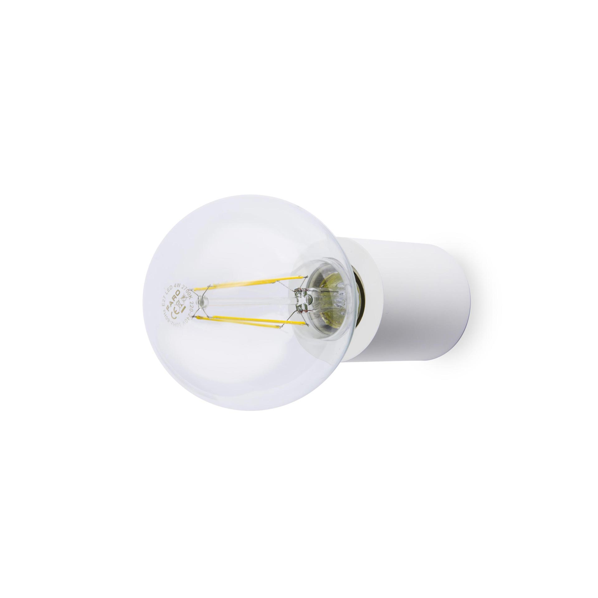 Aplique de pared E27 blanco mate Ten 62150 de Faro
